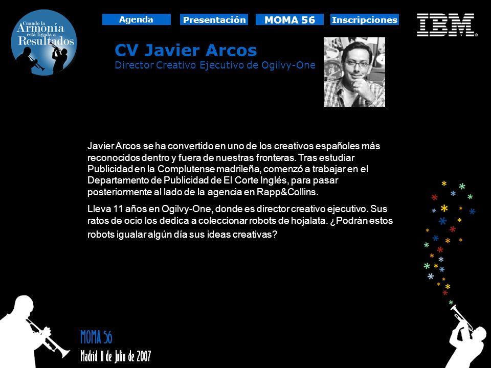 CV Javier Arcos MOMA 56 Director Creativo Ejecutivo de Ogilvy-One