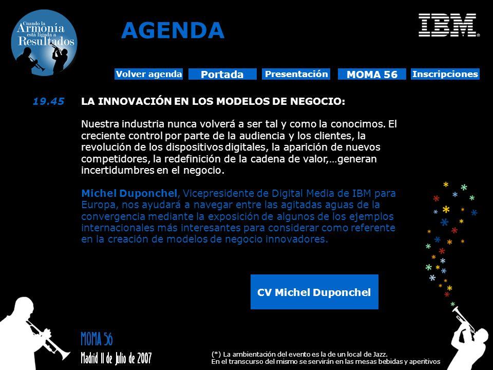 AGENDA Portada MOMA 56 19.45 LA INNOVACIÓN EN LOS MODELOS DE NEGOCIO: