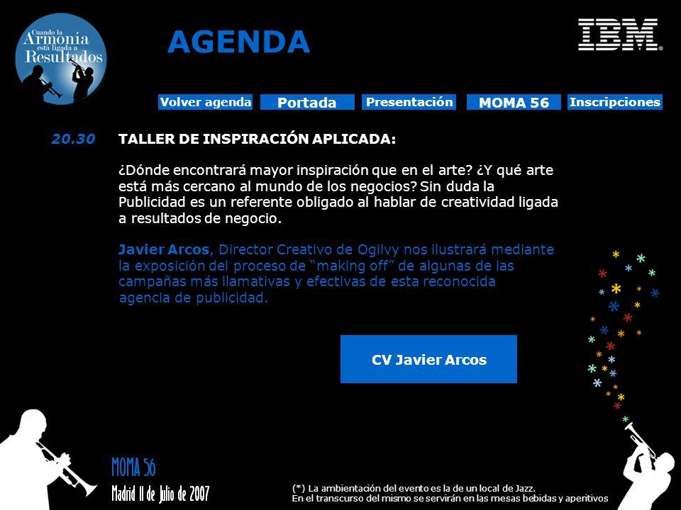 AGENDA Portada MOMA 56 20.30 TALLER DE INSPIRACIÓN APLICADA: