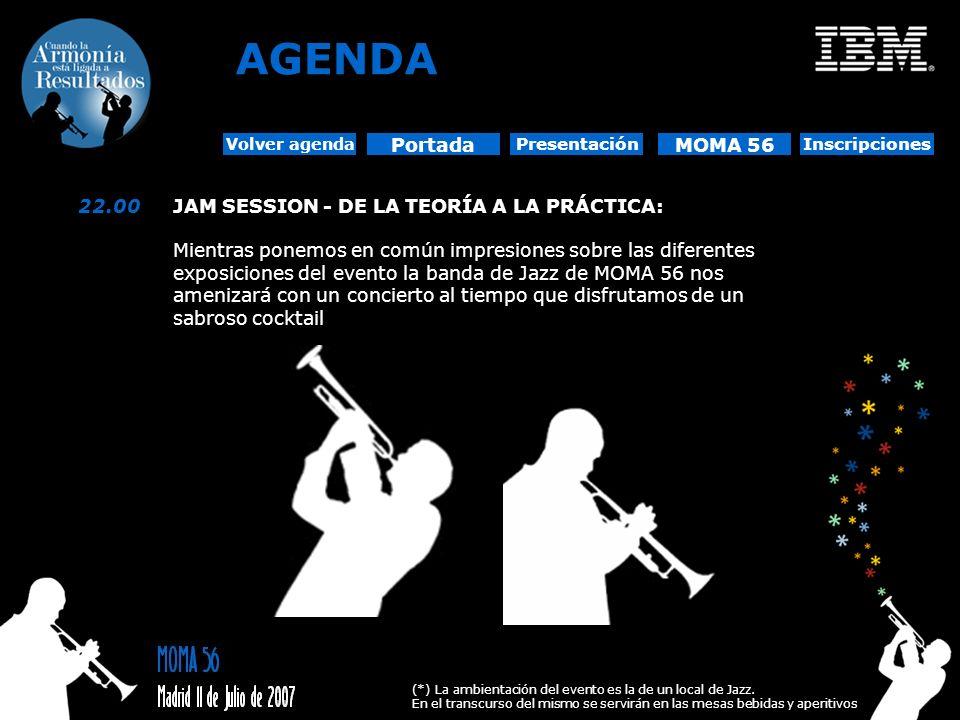 AGENDA Portada MOMA 56 22.00 JAM SESSION - DE LA TEORÍA A LA PRÁCTICA: