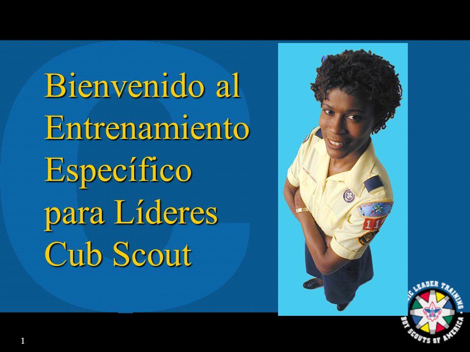 Bienvenido al Entrenamiento Específico para Líderes Cub Scout