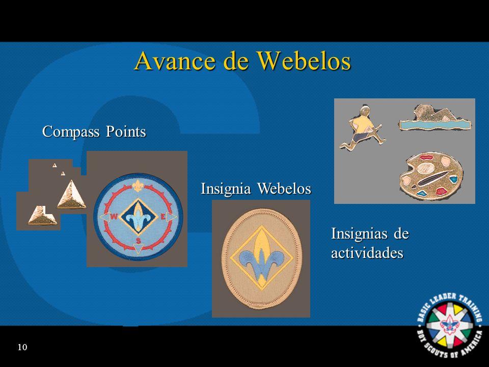 Avance de Webelos Compass Points Insignia Webelos