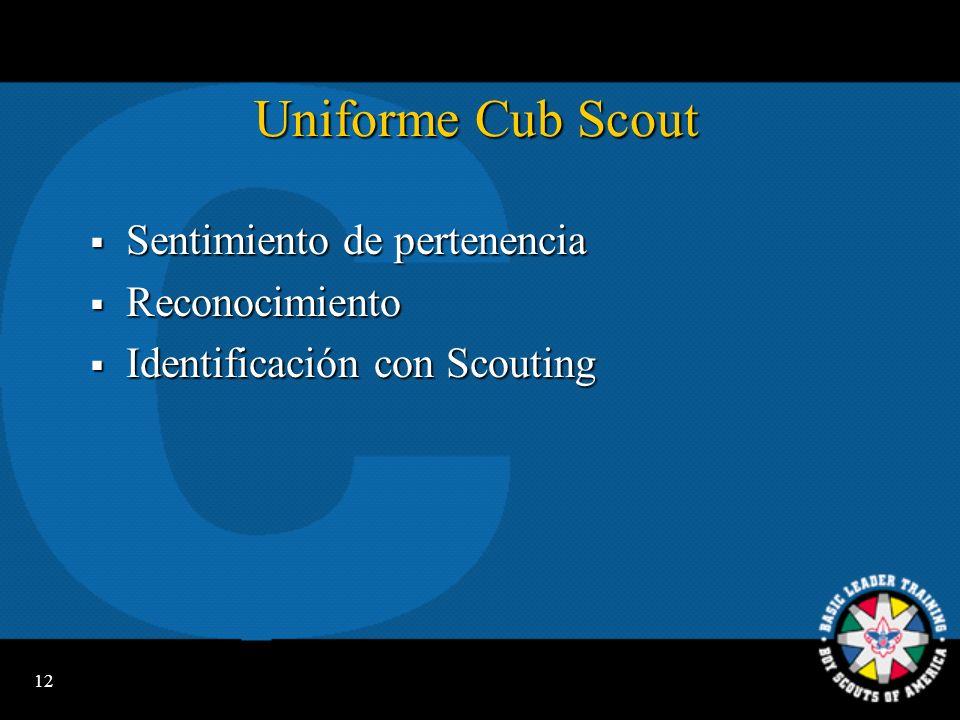 Uniforme Cub Scout Sentimiento de pertenencia Reconocimiento
