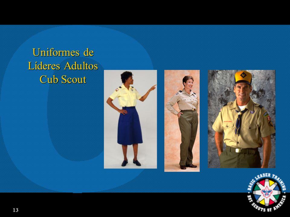 Uniformes de Líderes Adultos Cub Scout