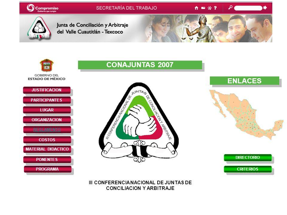 III CONFERENCIA NACIONAL DE JUNTAS DE CONCILIACION Y ARBITRAJE