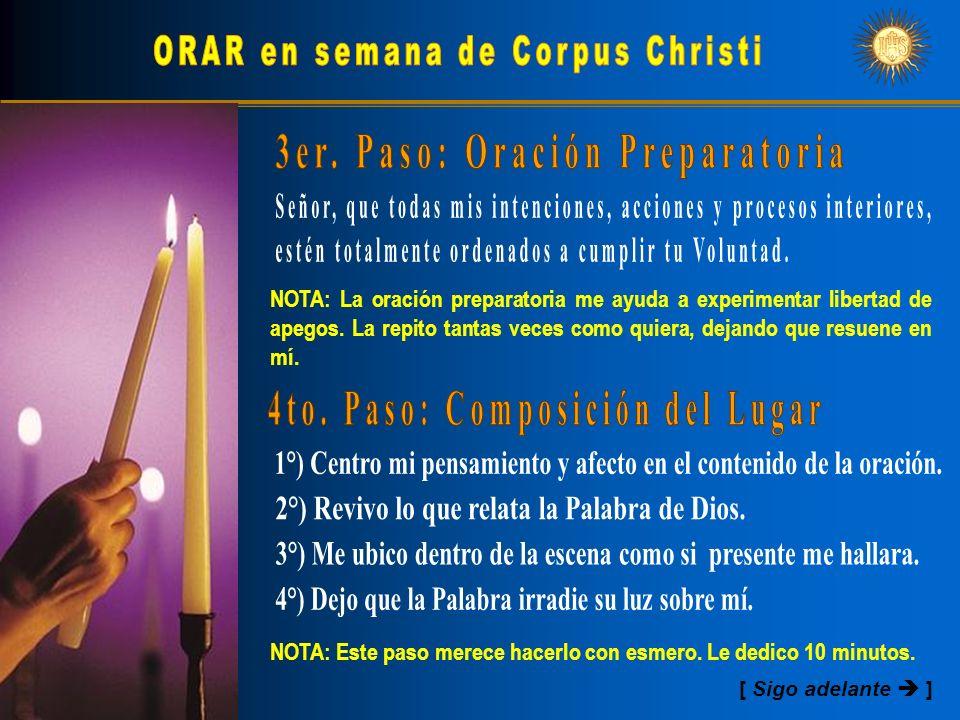 ORAR en semana de Corpus Christi