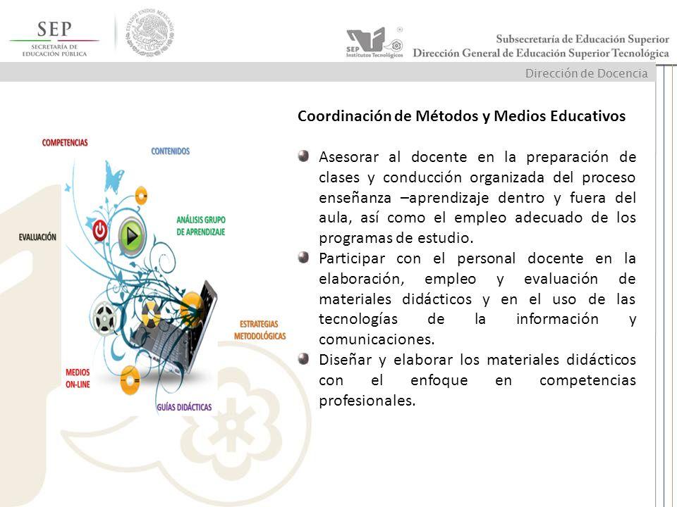 Coordinación de Métodos y Medios Educativos