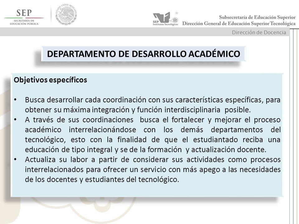 DEPARTAMENTO DE DESARROLLO ACADÉMICO