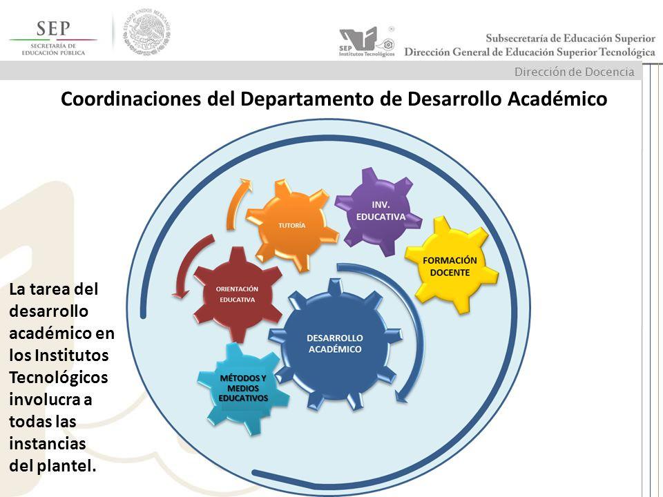 Coordinaciones del Departamento de Desarrollo Académico