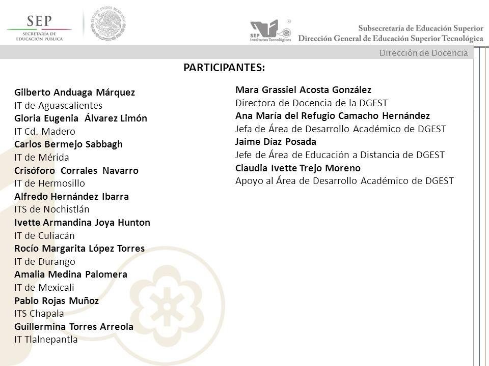PARTICIPANTES: Mara Grassiel Acosta González Gilberto Anduaga Márquez