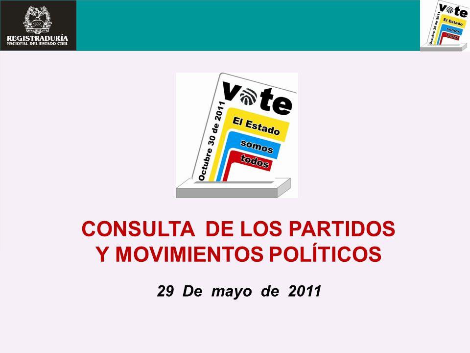 CONSULTA DE LOS PARTIDOS Y MOVIMIENTOS POLÍTICOS