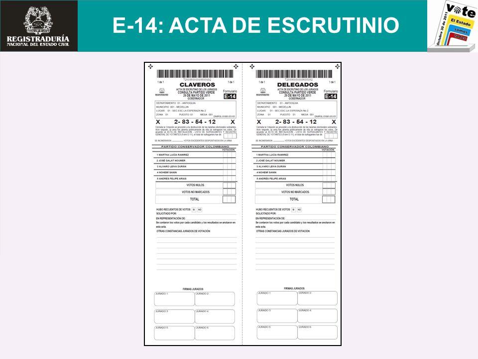 E-14: ACTA DE ESCRUTINIO