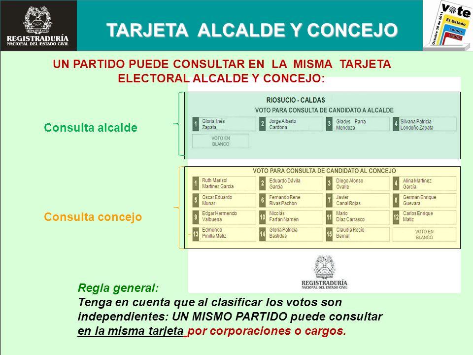 TARJETA ALCALDE Y CONCEJO