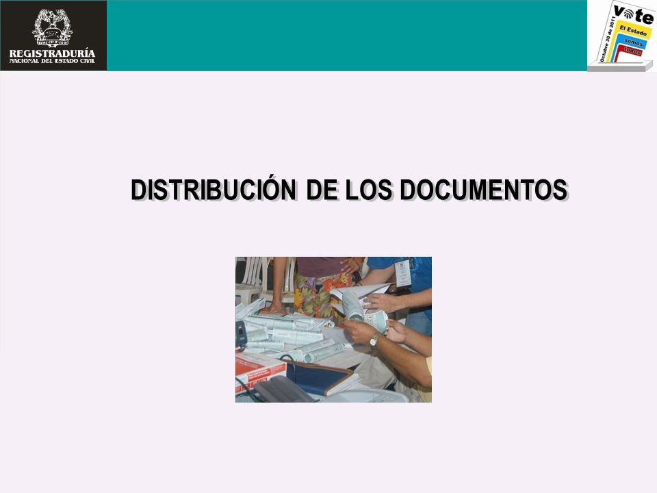 DISTRIBUCIÓN DE LOS DOCUMENTOS