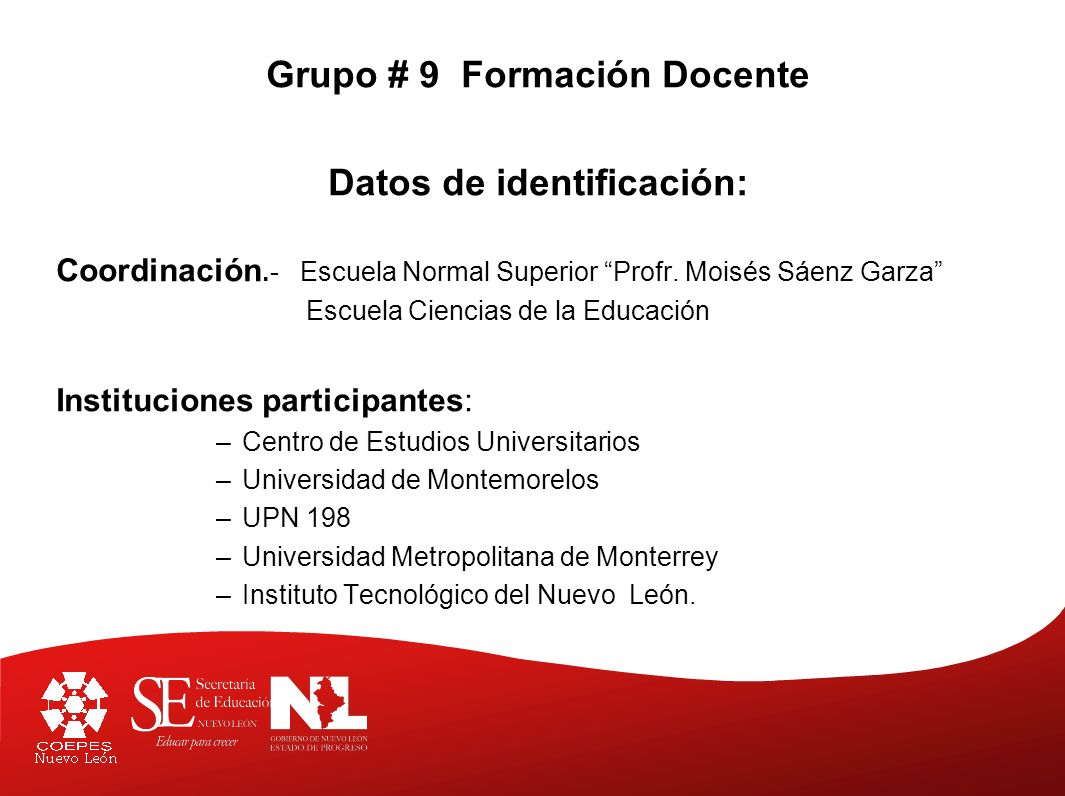 Grupo # 9 Formación Docente