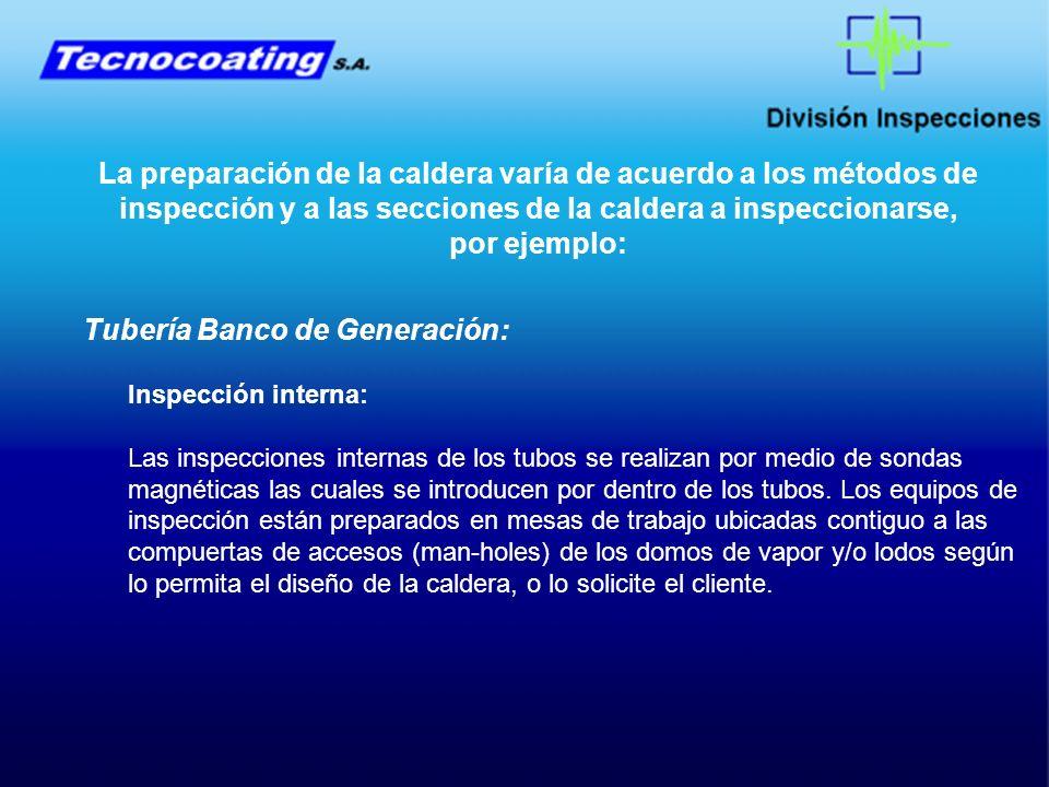 Tubería Banco de Generación: