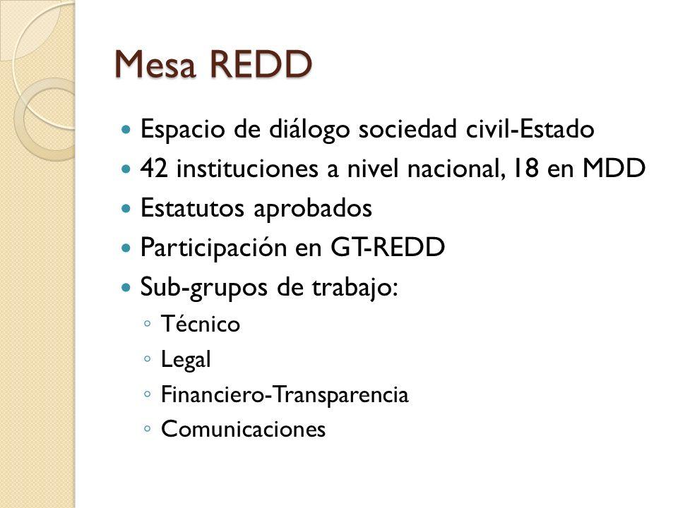 Mesa REDD Espacio de diálogo sociedad civil-Estado