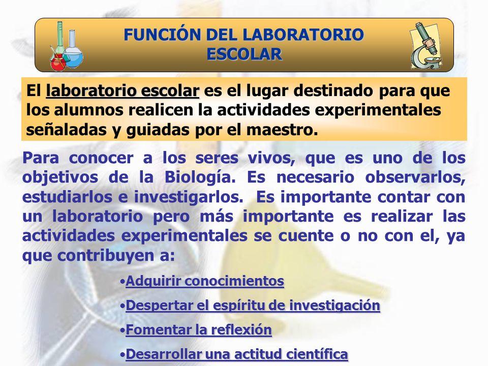 FUNCIÓN DEL LABORATORIO ESCOLAR