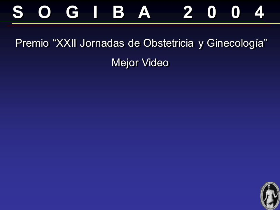 Premio XXII Jornadas de Obstetricia y Ginecología