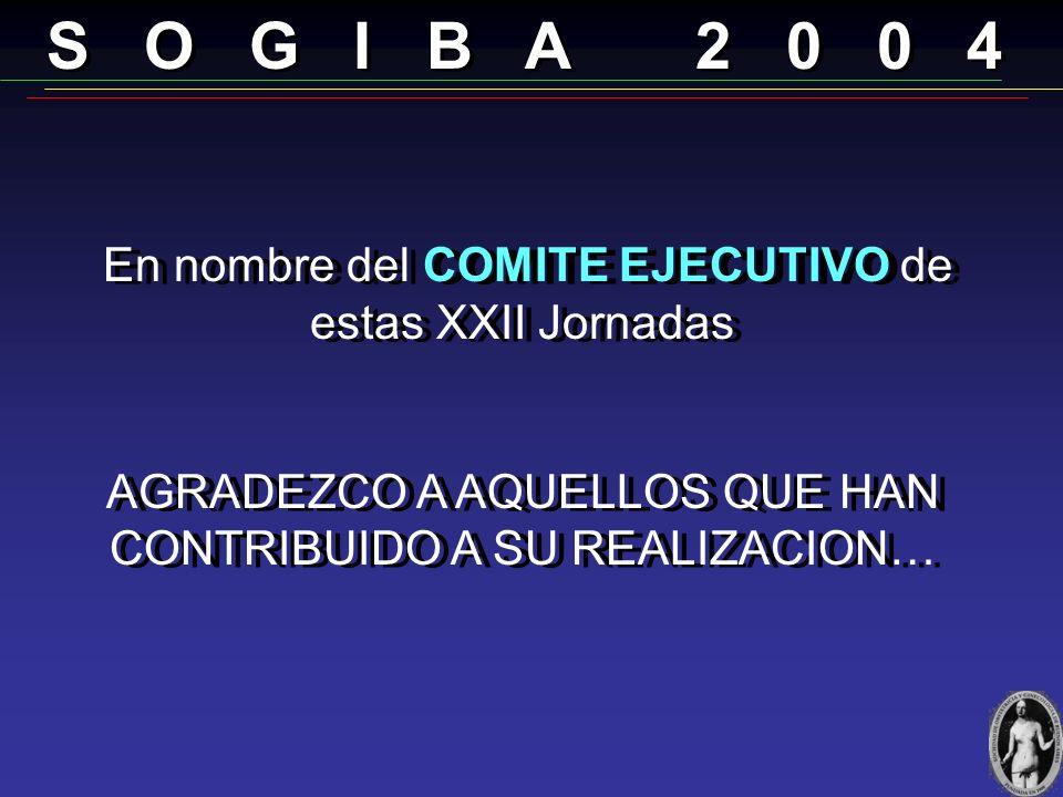 S O G I B A 2 0 0 4 En nombre del COMITE EJECUTIVO de estas XXII Jornadas.