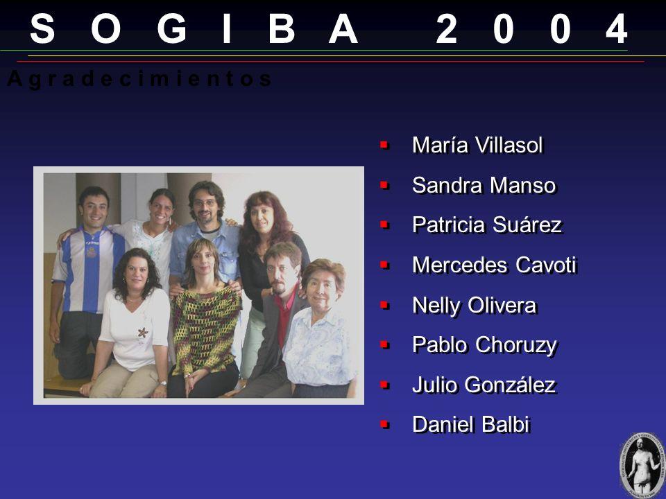 S O G I B A 2 0 0 4 A g r a d e c i m i e n t o s María Villasol