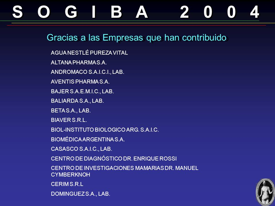 Gracias a las Empresas que han contribuido