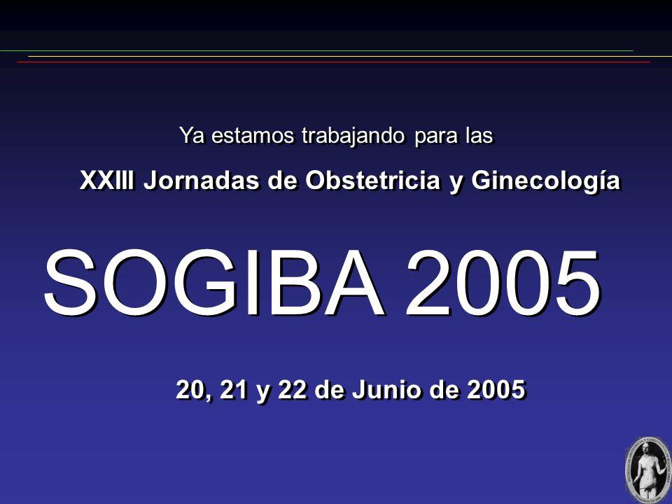 SOGIBA 2005 XXIII Jornadas de Obstetricia y Ginecología