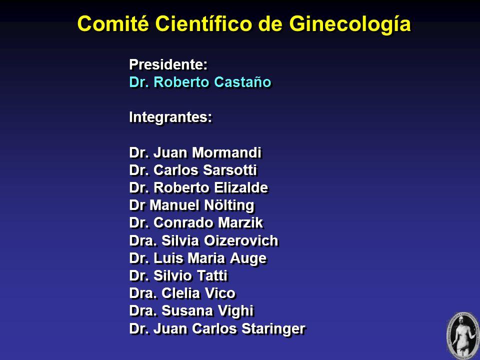 Comité Científico de Ginecología