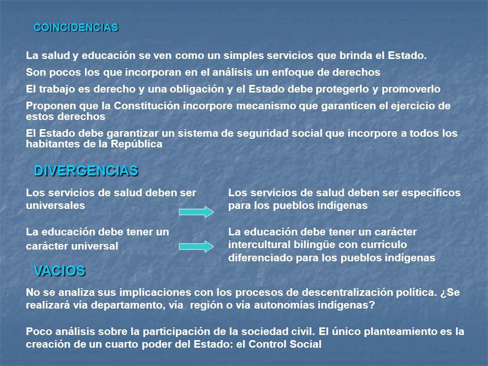 DIVERGENCIAS VACIOS COINCIDENCIAS