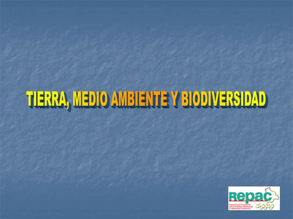 TIERRA, MEDIO AMBIENTE Y BIODIVERSIDAD