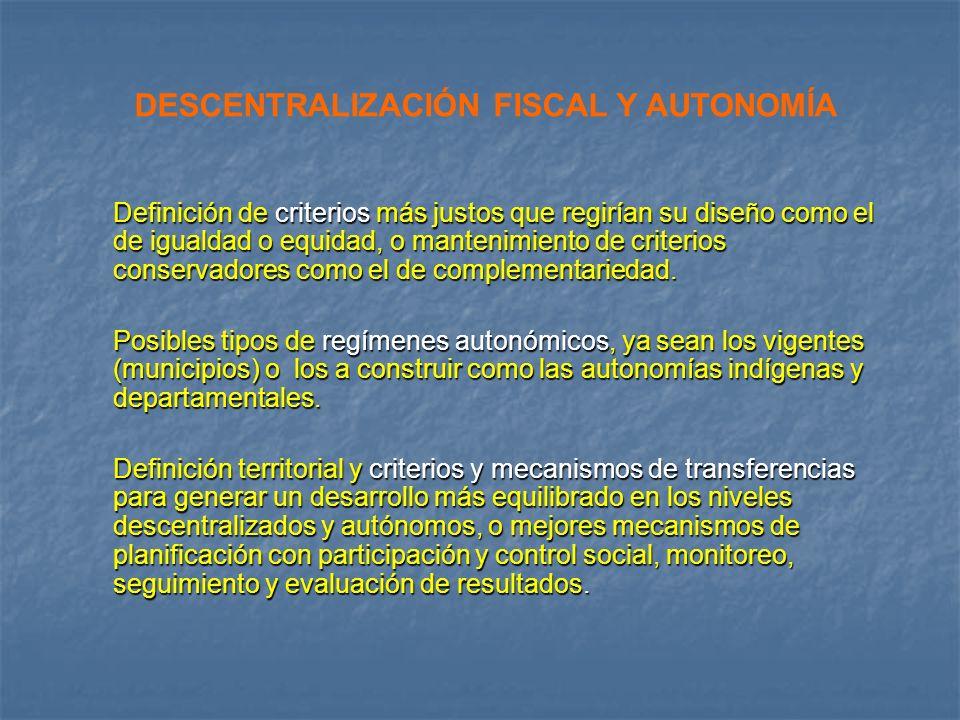 DESCENTRALIZACIÓN FISCAL Y AUTONOMÍA