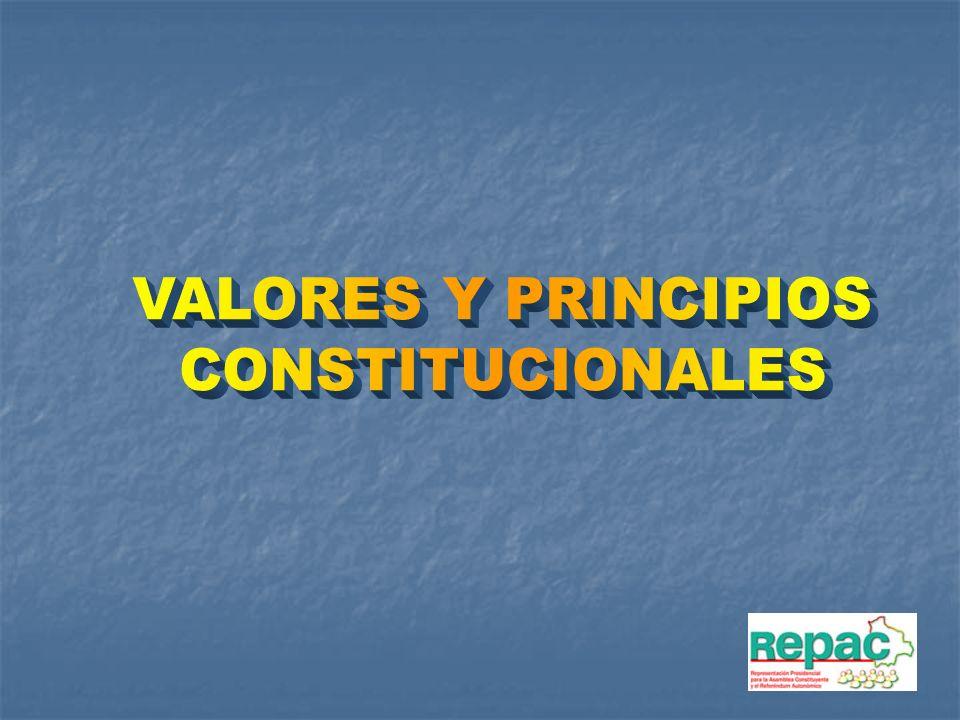VALORES Y PRINCIPIOS CONSTITUCIONALES