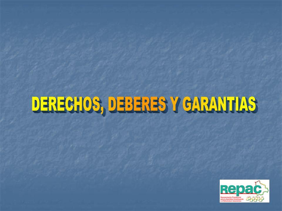 DERECHOS, DEBERES Y GARANTIAS