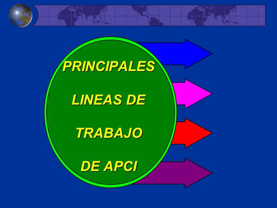 PRINCIPALES LINEAS DE TRABAJO DE APCI