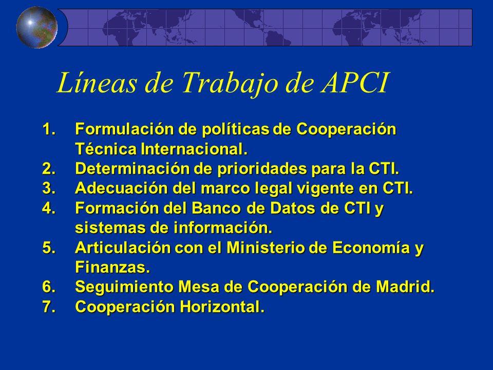 Líneas de Trabajo de APCI