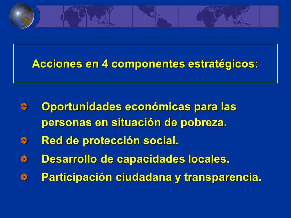 Acciones en 4 componentes estratégicos: