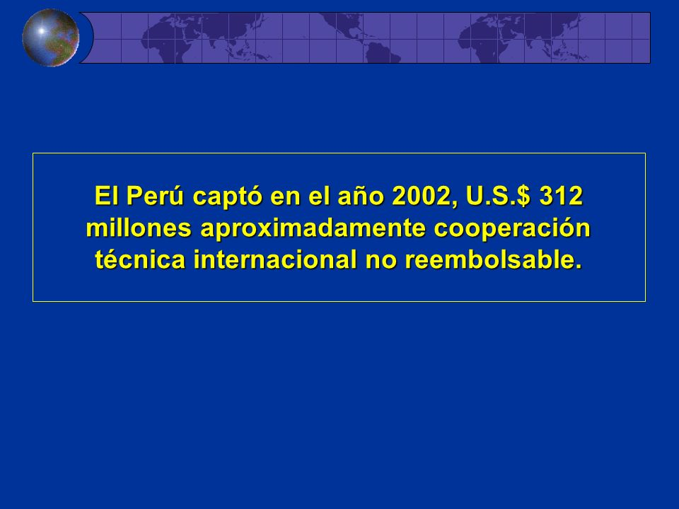 El Perú captó en el año 2002, U. S