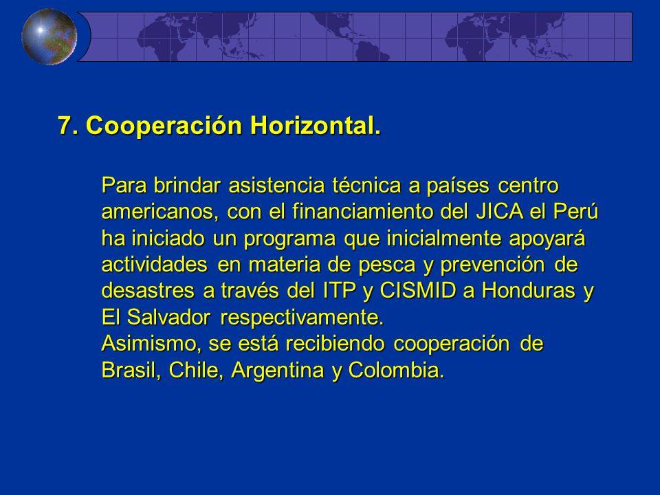 7. Cooperación Horizontal.