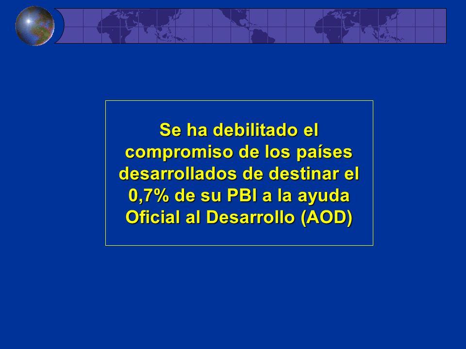Se ha debilitado el compromiso de los países desarrollados de destinar el 0,7% de su PBI a la ayuda Oficial al Desarrollo (AOD)