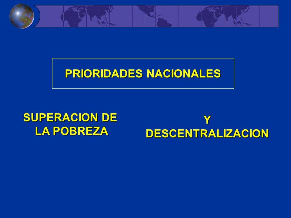 PRIORIDADES NACIONALES