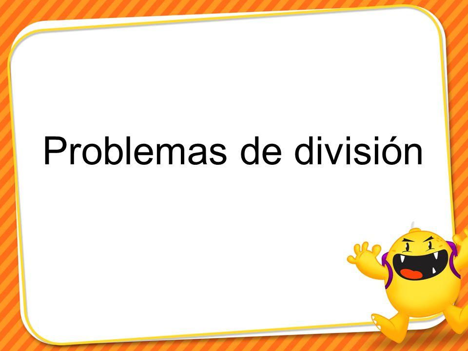Problemas de división