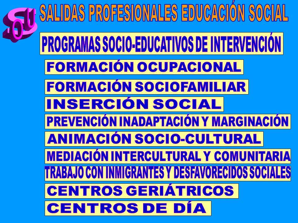 SALIDAS PROFESIONALES EDUCACIÓN SOCIAL