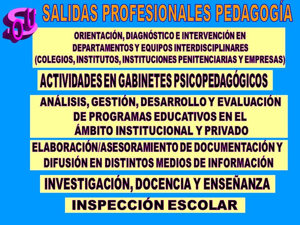 SALIDAS PROFESIONALES PEDAGOGÍA
