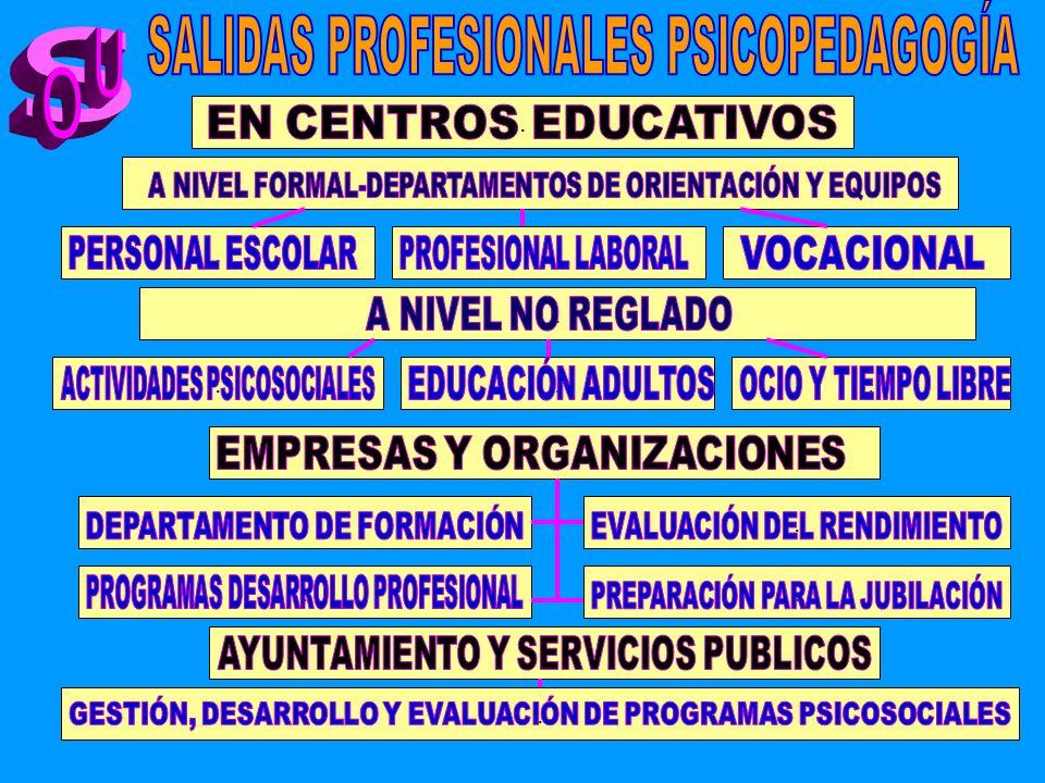 SALIDAS PROFESIONALES PSICOPEDAGOGÍA