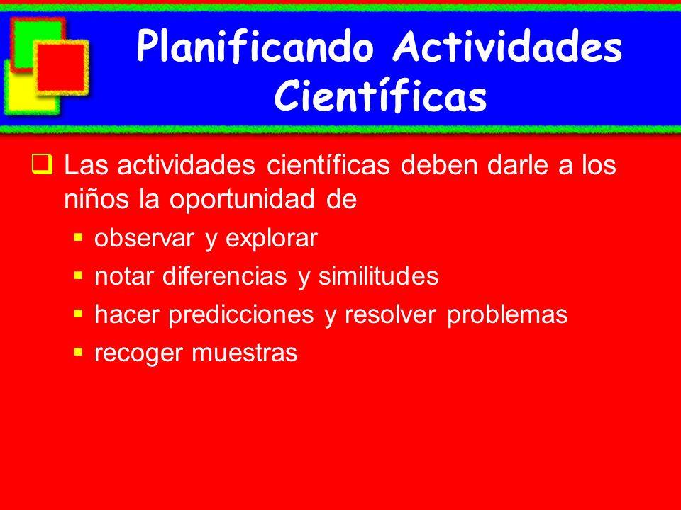 Planificando Actividades Científicas