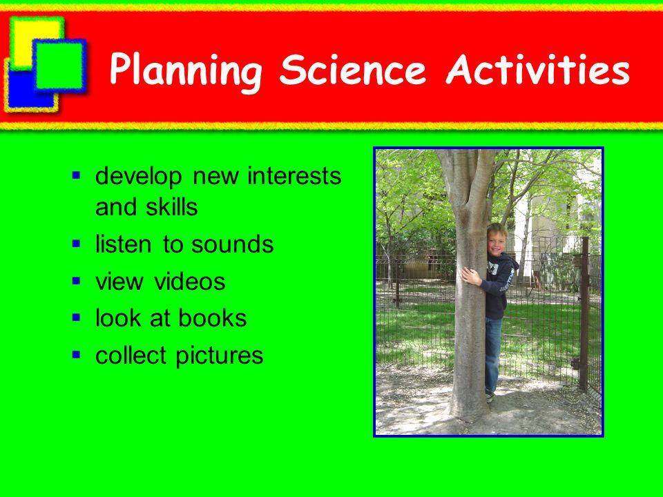 Planning Science Activities