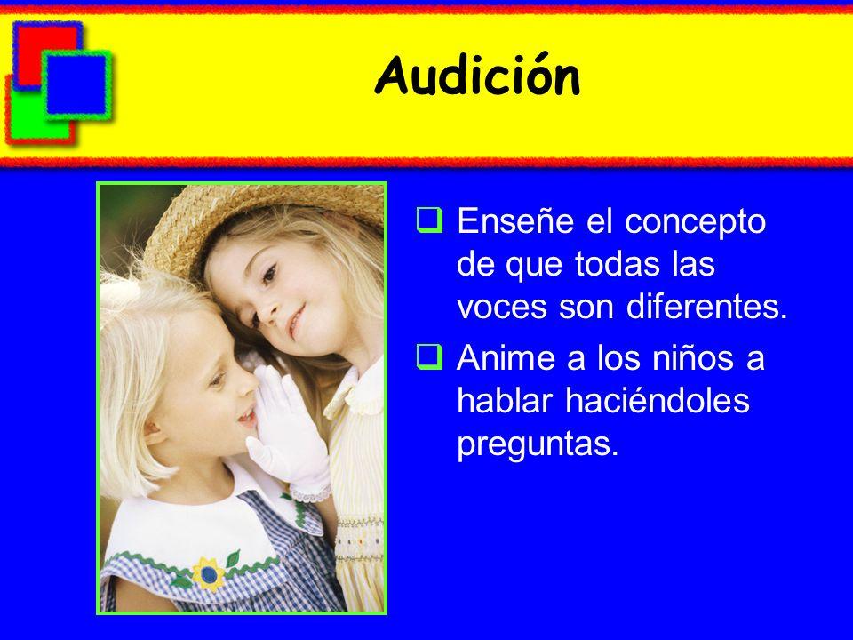 Audición Enseñe el concepto de que todas las voces son diferentes.