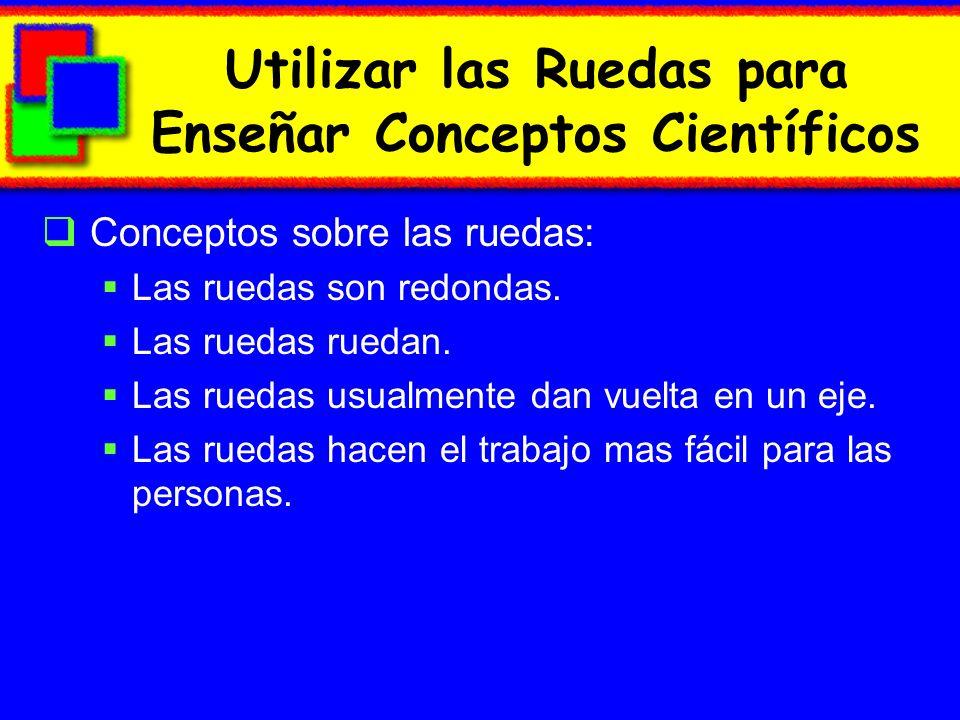 Utilizar las Ruedas para Enseñar Conceptos Científicos