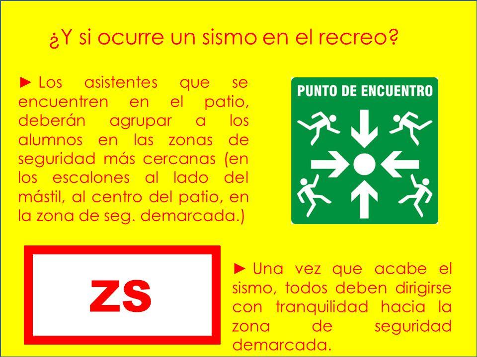 ZS ¿Y si ocurre un sismo en el recreo