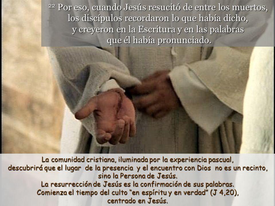 La resurrección de Jesús es la confirmación de sus palabras.